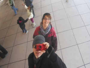 Our reflection in Cloud Gate (the Bean) in Millennium Park.
