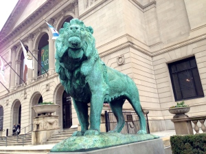 One of the Art Institute's iconic lions.