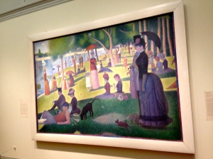 "Seurat's famed ""Sunday Afternoon on the Island of La Grande Jatt"" greeted my when I entered the Impressionist exhibit."