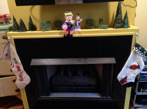New Tradition: decorate the mantle with Hermey!