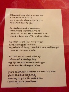 The limerick I wrote for Ken for his 40th birthday.